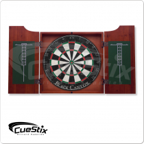40-0600 Chocolate Stained Dart Board Cabinet