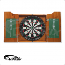 40-0700 Honey Stained Dart Board Cabinet