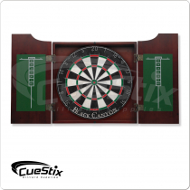 40-0900 Wine Stained Dart Board Cabinet