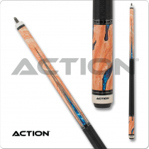 Action ACT153 Pool Cue - Burl wood overlay with water design