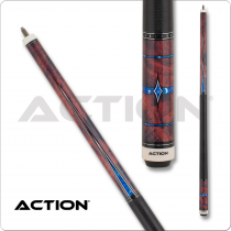 Action ACT155 Fractal - Burl w/ Blue Diamonds & Points