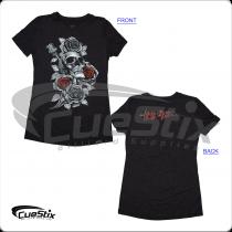 American AHS04 Hustler Ladies Charcoal T-Shirt
