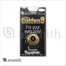 Aramith BBGOLD8 Golden 8 Ball in Blister Pack