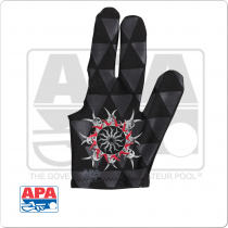 APA Tribal Burst BGLAPA03 Billiard Glove - Bridge Hand Left