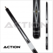 Action BW26 Black & White Pool Cue