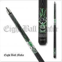 Action EBM23 Eight Ball Mafia Matte Black w/ Green lightning bolts and skulls
