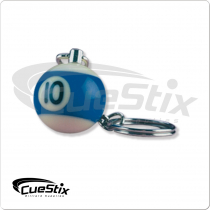 Mixed Billiard Ball Key Chain Card of 25