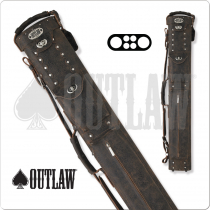 Outlaw Cowboy OLCCB01 2x4 Brown Leather Hard Cue Case