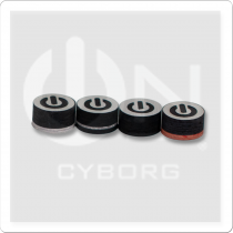 ON QTCYB Cyborg Black Pool Cue Tip - Single