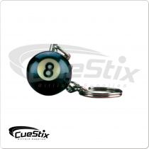 8 Ball NI8BK1 Key Chain Single