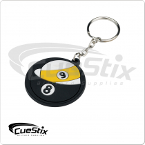 Rubber 8/9-Ball Key chain