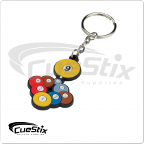 Rubber 9 Ball Rack NIKCR Key Chain