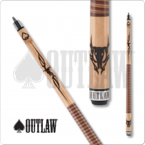 Outlaw Original OL42 Cow Skull Two Toned Wrap Cue