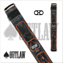 Outlaw OLB22D 2x2 Stitch Flames Hard Cue Case