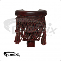 Burgundy Fringe TPPK10 Leather Pockets