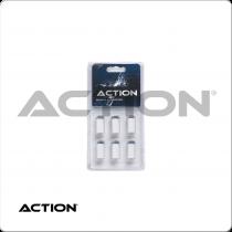 Action TR6SOB Blue Slip On Tips & Ferrules in Blister Pack of 6