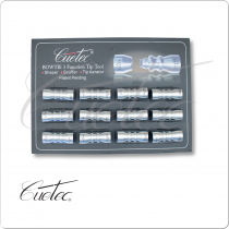 Cuetec TTBOW12 Bowtie Tip Tools - Card of 12