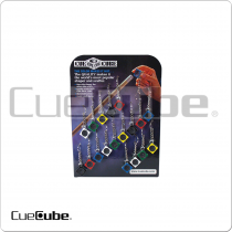 Cue Cube TTCCCOL18 Colors Tip Tools Card of 18
