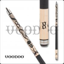 Voodoo VOD37 Blunt smoking skull - Smoking skull w/ flames