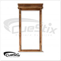 WRR10 10 Cue Deluxe Rustic Wall Rack